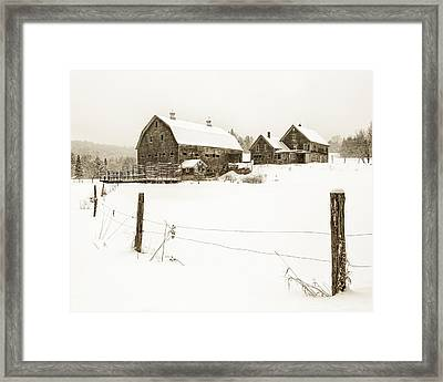 Till Dawn Farm Framed Print