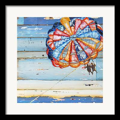 Parasail Framed Prints