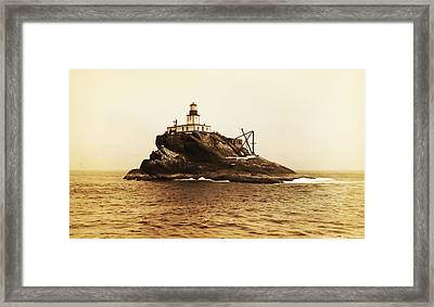 Tillamook Rock And Lighthouse Framed Print by Bill Cannon