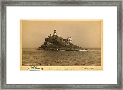 Tillamook Rock Lighthouse Framed Print by Jerry McElroy - Public Domain Image