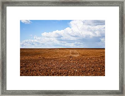 Tilled Earth Framed Print