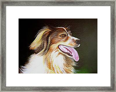 Framed Print featuring the painting Tillie by Janice Dunbar
