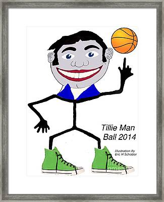 Tillie Man Ball Framed Print