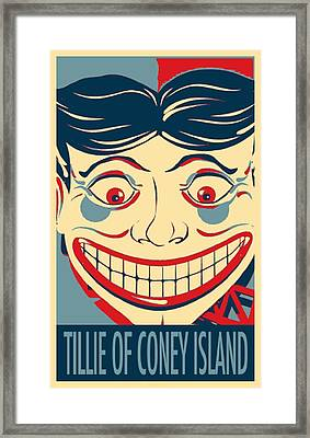 Tillie Of Coney Island In Hope Framed Print by Rob Hans