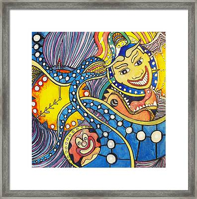 Tillies Funhouse Design Framed Print by Patricia Arroyo