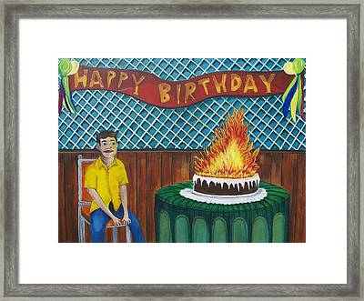 Tillies Last Birthday Party Framed Print by Patricia Arroyo