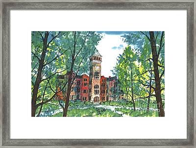 Tillman Hall Two Clemson Framed Print