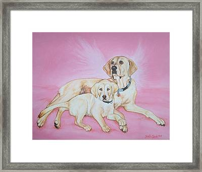 Tilly And Forrest Framed Print by Beth Clark-McDonal