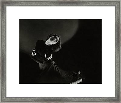Tilly Losch Wearing A Dress Framed Print by Edward Steichen