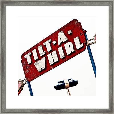 Tilt-a-whirl Framed Print by Pattie Calfy