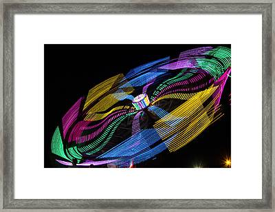Framed Print featuring the photograph Tilt A Whirl by Steven Bateson