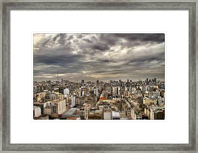Tilt Shift Buenos Aires Panorama Framed Print by For Ninety One Days