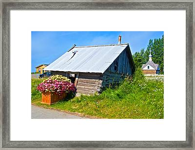Tilted Shed In Old Town Kenai-ak Framed Print by Ruth Hager
