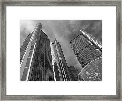 Tilting Towers Framed Print by Ann Horn
