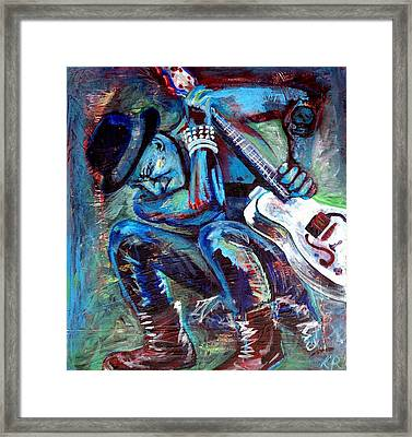 Tim Armstrong And Gretsch  Framed Print by Kat Richey