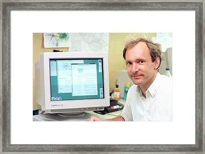Tim Berners-lee Framed Print