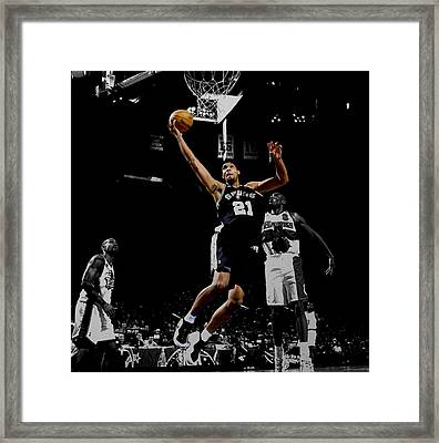 Tim Duncan All Star Game Framed Print