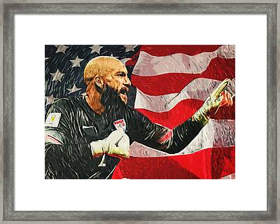 Tim Howard Framed Print by Taylan Apukovska