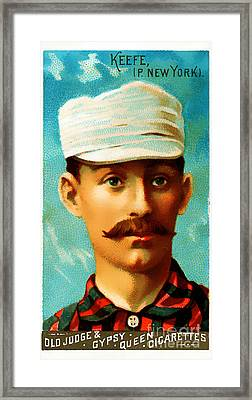 Tim Keefe New York Metropolitans Baseball Card 0128 Framed Print by Wingsdomain Art and Photography