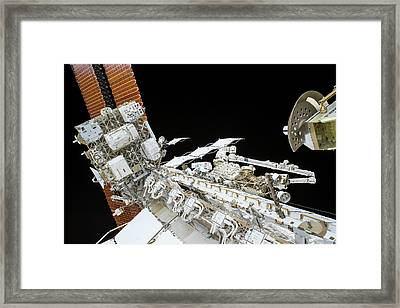 Tim Kopra's Spacewalk Framed Print by Nasa
