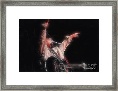 Tim Mcgraw Ga22 - Fractal Framed Print by Gary Gingrich Galleries