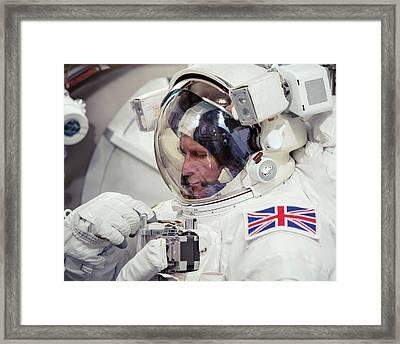 Tim Peake Framed Print