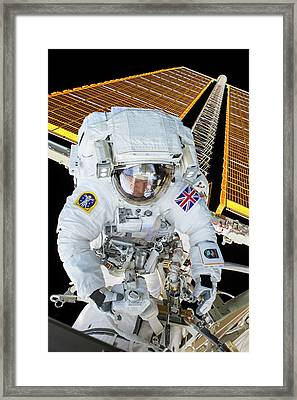 Tim Peake's Spacewalk Framed Print by Nasa