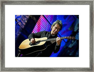Tim Reynolds On Guitar Framed Print by Jennifer Rondinelli Reilly - Fine Art Photography