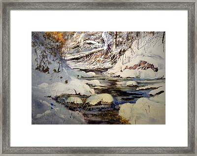 Timber Creek Winter Framed Print by Joseph Barani