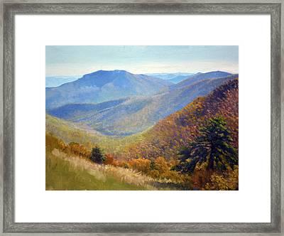 Timber Hollow Overlook Framed Print