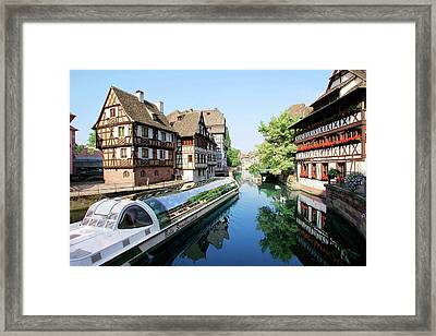 Timbered Buildings, La Petite France Framed Print by Miva Stock