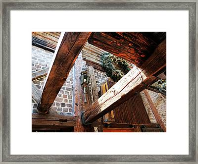 Timbers And Lamp Framed Print by Don Barnes