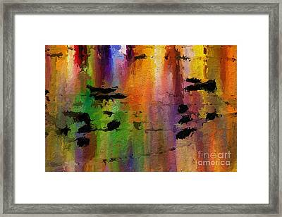 Timbral Downpour Framed Print