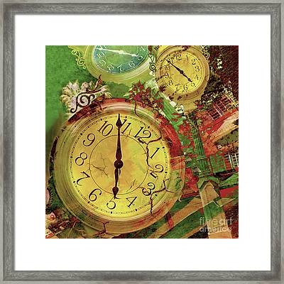 Time 6 Framed Print by Claudia Ellis