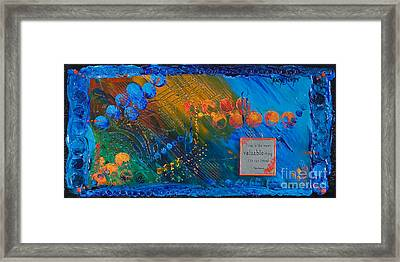 Time Abstract Framed Print by Tracy L Teeter