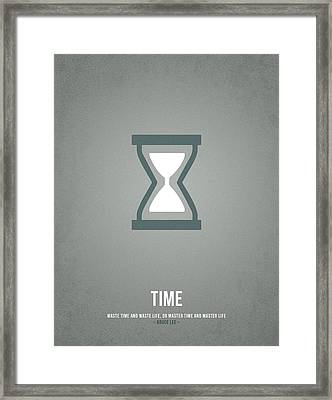 Time Framed Print by Aged Pixel