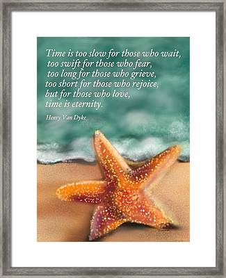 Time And Eternity  Framed Print by Christine Fournier