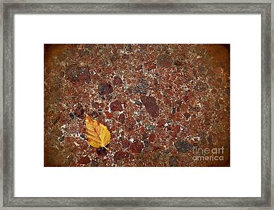 Time And Eternity Framed Print by The Stone Age