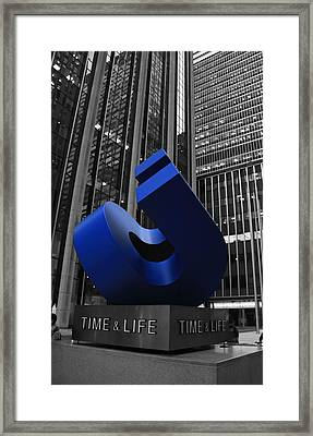 Time And Life Building In New York City Framed Print by Dan Sproul