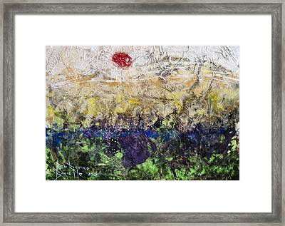 Framed Print featuring the painting Time And Place by Ron Richard Baviello