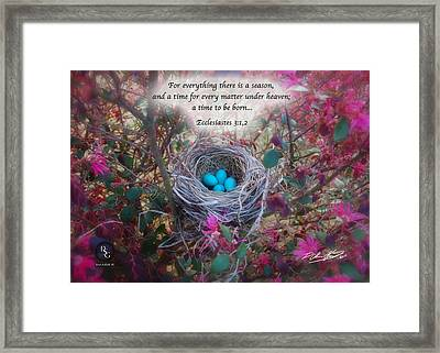 Time And Season Framed Print