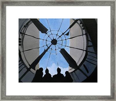 Time And Space Framed Print by Ingela Christina Rahm