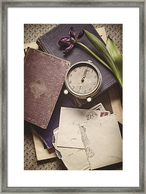 Time And Treasures Framed Print by Amy Weiss
