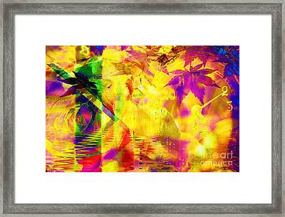 Time As An Abstract Framed Print by Elizabeth McTaggart