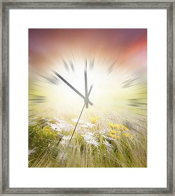 Time Blurred Framed Print by Les Cunliffe