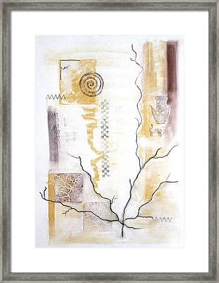 Time Branching Framed Print by Diana Perfect