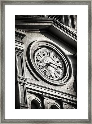 Time Framed Print by Brenda Bryant