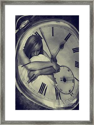 Time Constraint Framed Print by Amanda Elwell