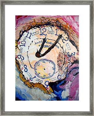 Time Framed Print by Daniel Janda