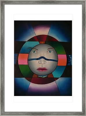 Time Face Framed Print